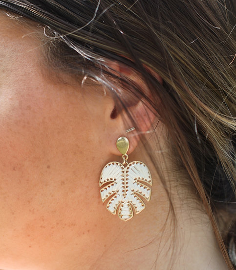 Woven Palm Leaf Earring