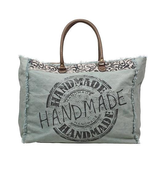 Mint Handmade Weekender Bag