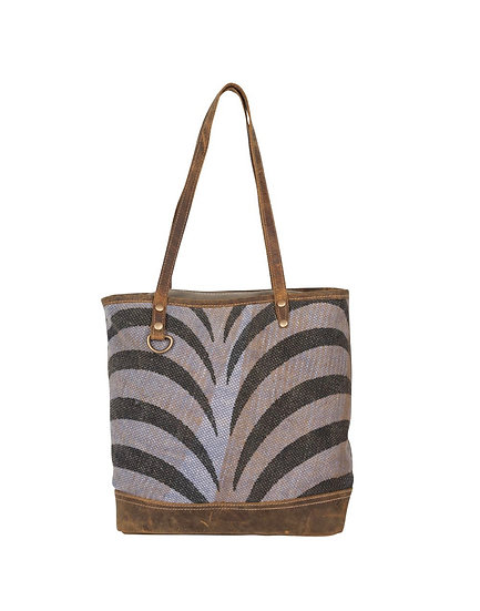 Purple Zebra Myra Tote Bag