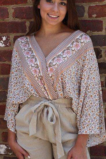 Natural Floral Bodysuit
