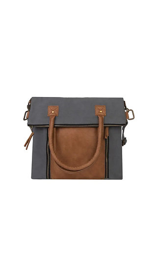Recycled Canvas Foldover Bag