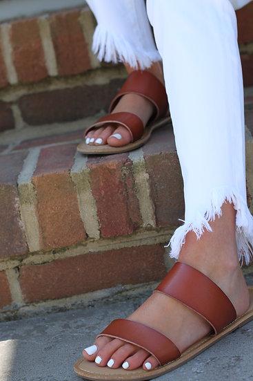 KanCan White Fray Jeans