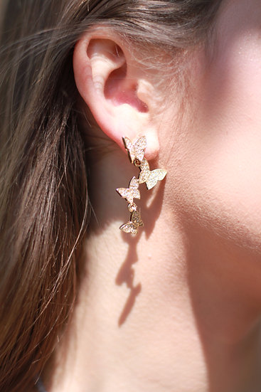 Butterfly Crystal Dangle Earring