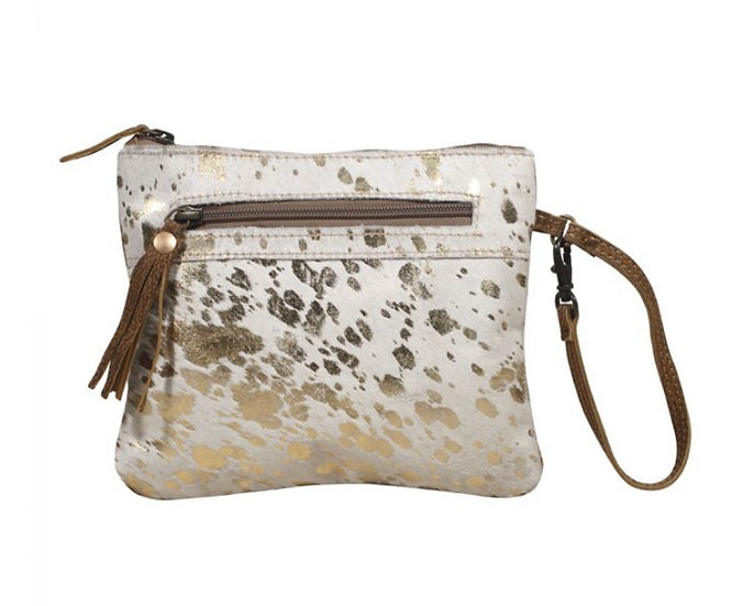 Gold Speck Cowhide Myra Pouch