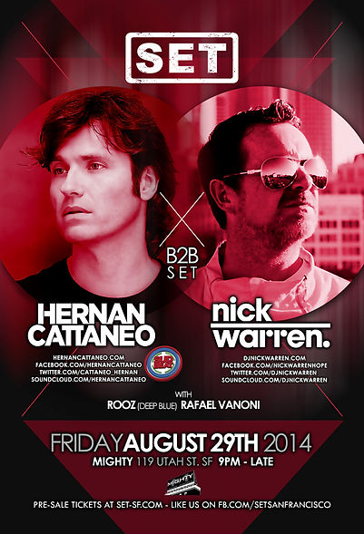 SET with Hernan Cattaneo & Nick Warren at Mighty