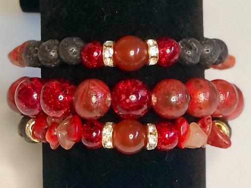 Muladhara Root Chakra Bracelet Set