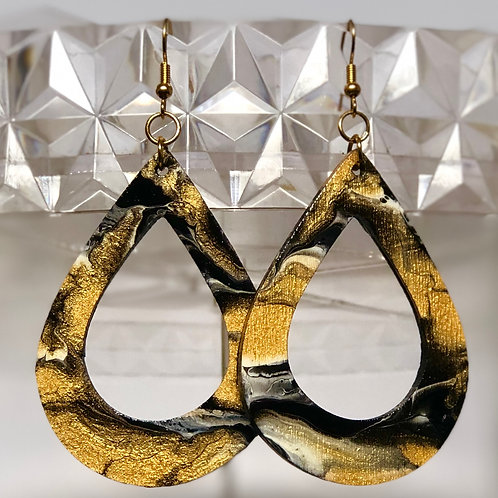 Black & Gold Teardrops