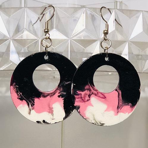 Pink, Black, & White Circles