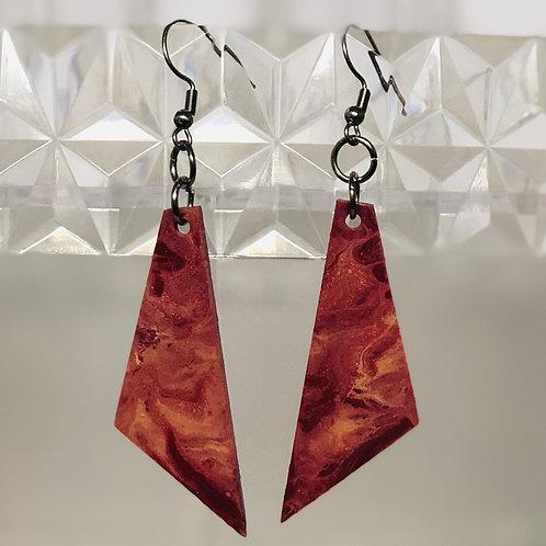 Crimson & Cream Triangles
