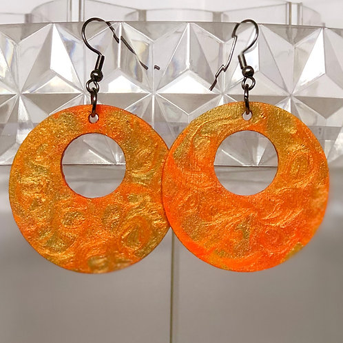 Golden Orange Circles