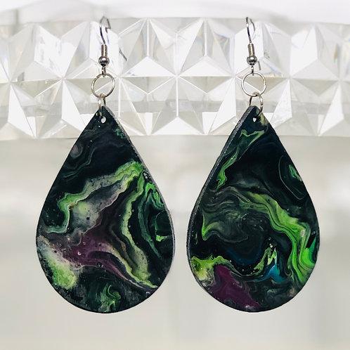 Psychedelic Green Teardrops