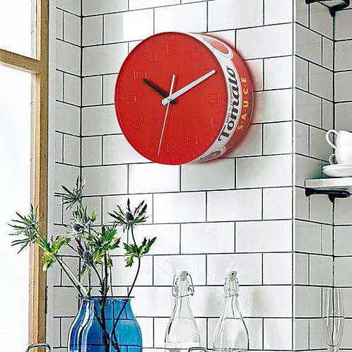 שעון קיר  בצורת פחית של עגבניות לבישול