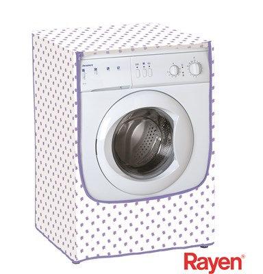 כיסוי למכונת כביסה פתח תחתון לבן סגול