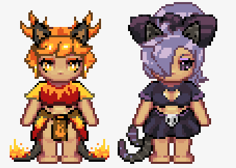 Amberina and Patricia Sprites - By CoyoteCraft