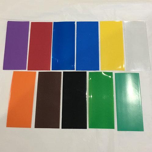 Plain Colour 18650 Battery Wraps