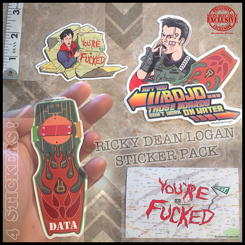 Ricky Dean Logan STICKER PACK