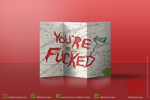 YOU'RE FUCKED FOLDING MAP (actual brochure size)
