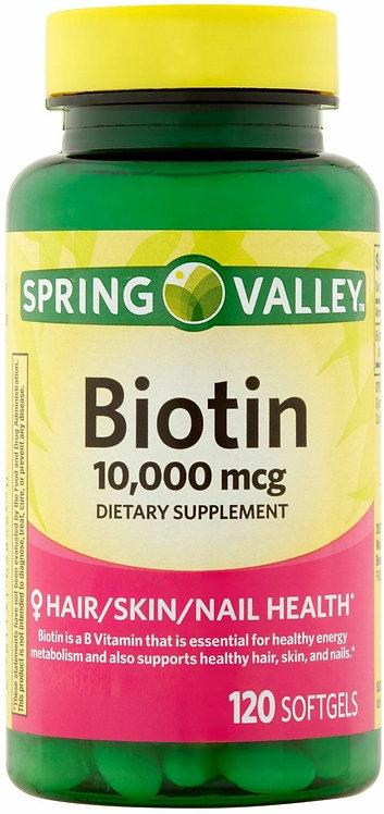 SPRING VALLEY - Biotin 10000 mg/120 soft gelsSPRING  VALLEY