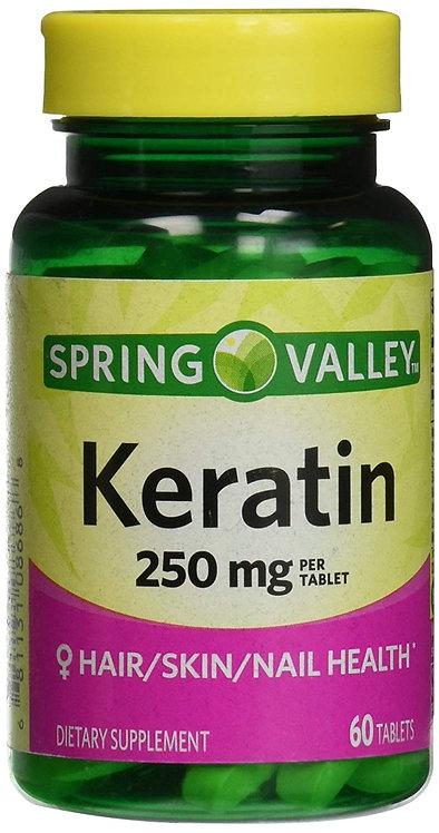 SPRING VALLEY - Keratin 250mg