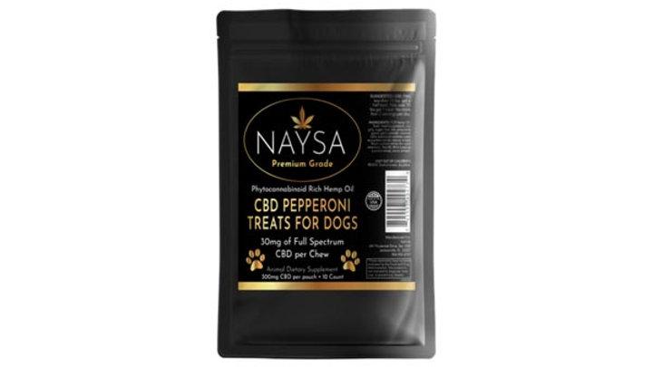 NAYSA 30MG CBD Pepperoni Treats For LARGE Dogs