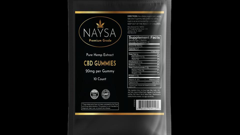 NAYSA CBD Sample Pack Gummies - (20MG - 50MG)