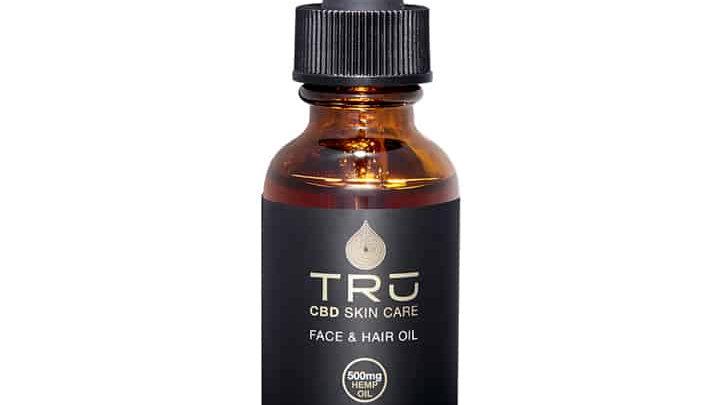 TRU ORGANICS FACE, HAIR & BODY OIL (500MG)