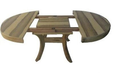 שולחן עגול פתיחת אמצע רגליים קבועות