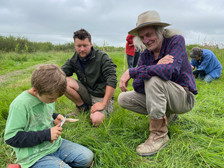 Wood whittling at Cilgerran Fruit and Nuts club open day