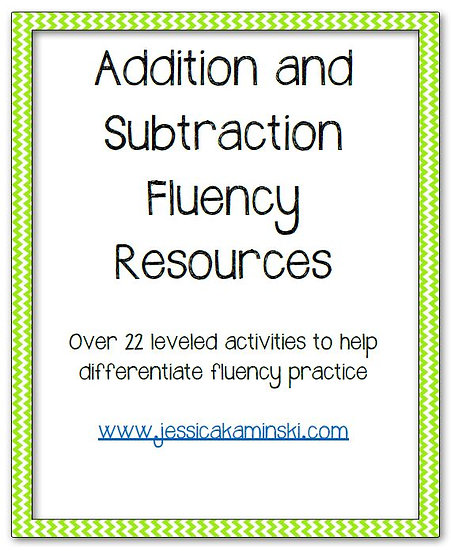 Addition and Subtraction Fluency Resources