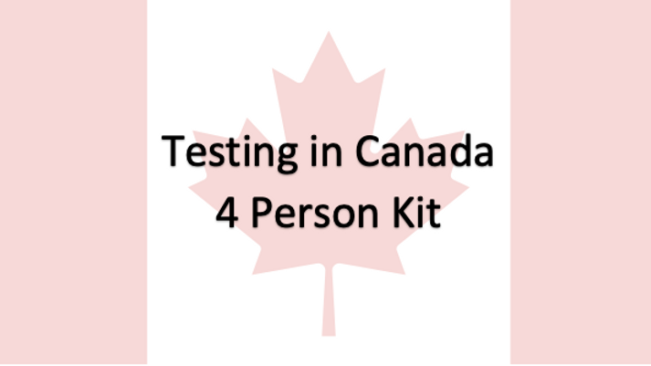 4 People - Covid-19 PCR Saliva Test in Canada