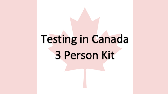 3 People - Covid-19 PCR Saliva Test in Canada