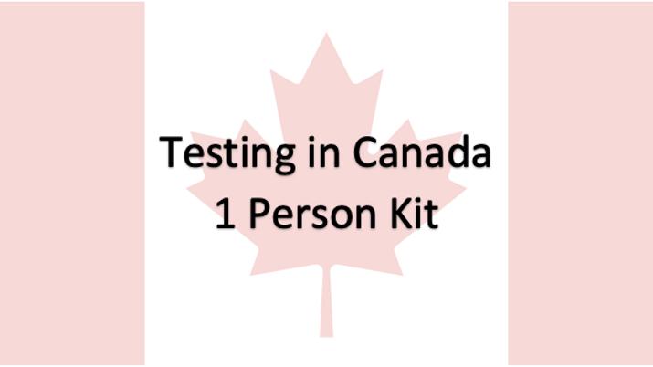 1 Person - Covid-19 PCR Saliva Test in Canada