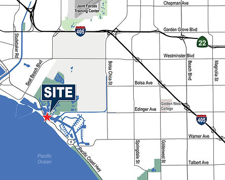 16214 Pacific Coast Hwy, Huntington Beach Site Map