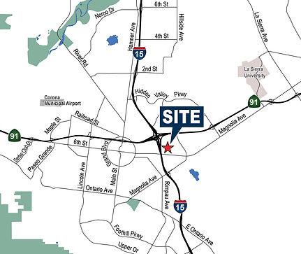 1337 Walker Ln, Corona Map