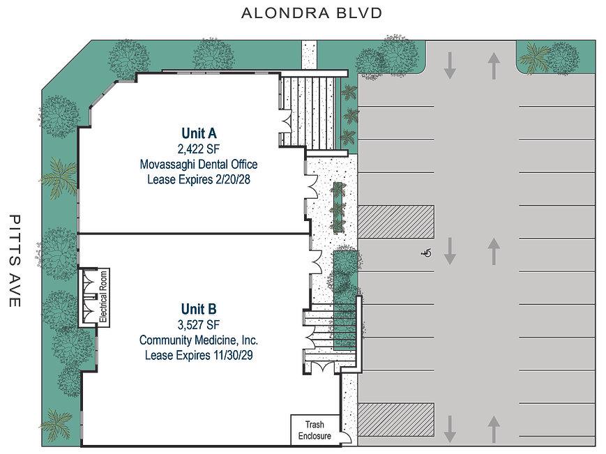 8800 Alondra Blvd, Bellflower Site Plan.