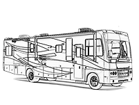 motorhome 4 amigos rv, big kid toys and mini storage