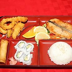 Grilled Salmon Bento Box