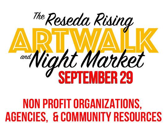 Reseda Artwalk Vendor Booth 9/29 - Non Profit Organizations, Agencies, Resources