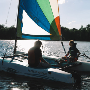 Sailing on Oxbow Lake