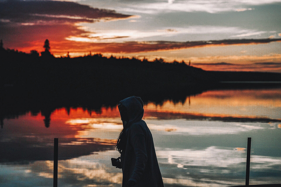 Sunset on Dotty Lake in Muskoka
