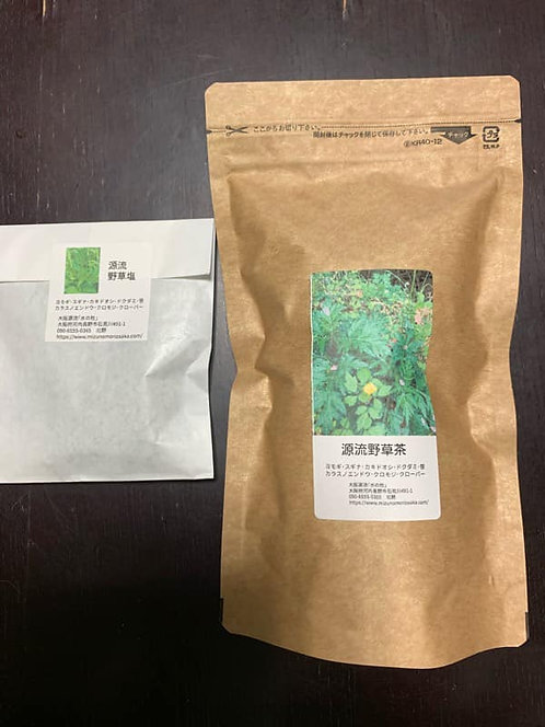 大阪源流野草茶と野草塩セット