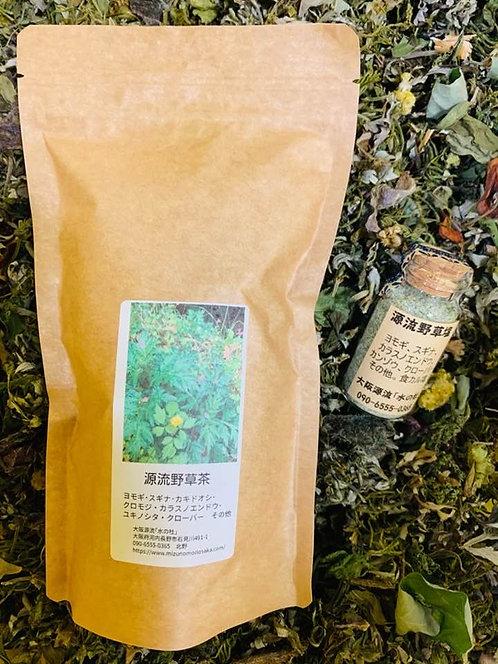 大阪源流野草茶と野草塩セット(送料込み)