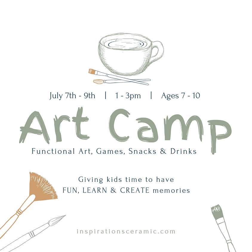 summer art camp   ages 7 - 10   sold out