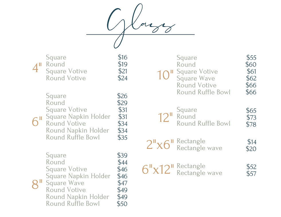 fused glass pricing
