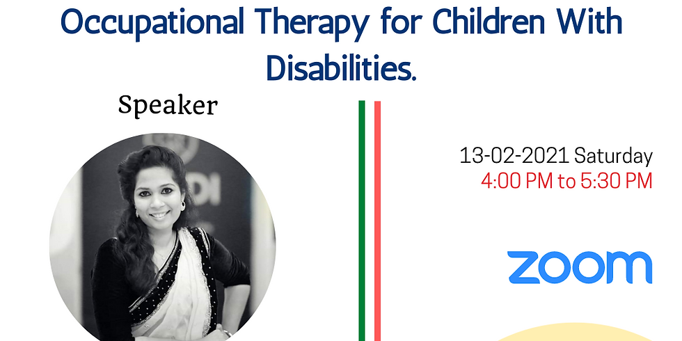 Webinar On Occupational Therapy for Children with Disabilities