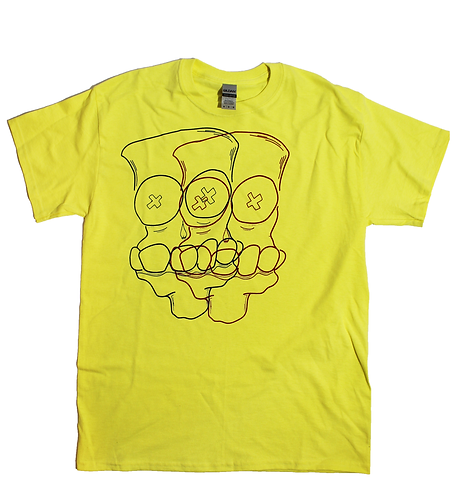 X'd Out Layered T-Shirt (Yellow)