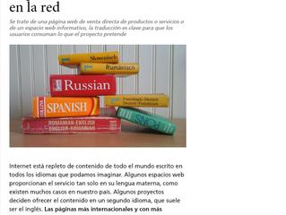 Importancia de la traducción de contenidos en la red