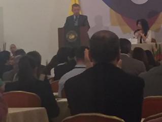 Ex-presidente Santos en Charla sobre oportunidades en Colombia.
