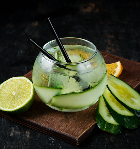 Cocktail Gin with Cucumber. Alcoholic co