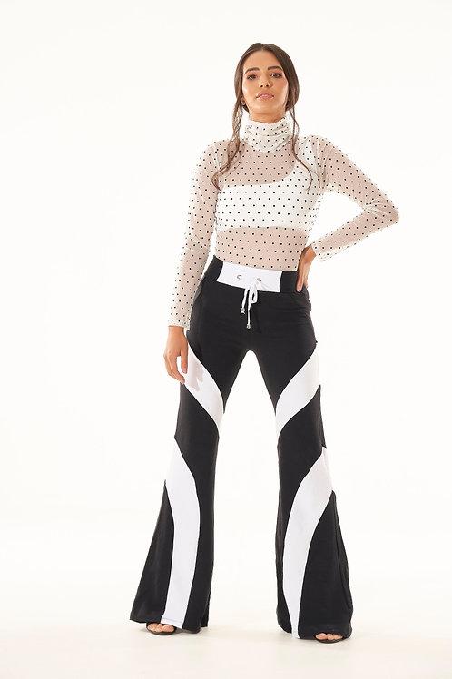 Calça Pantalona Comfy - P&B